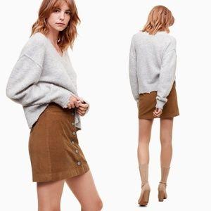 Aritzia Wilfred Free Karmen Corduroy Mini Skirt